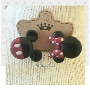 Mickey & Minnie Mouse Earrings.